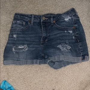 Aeropostale High Rise Shorty Jean Shorts